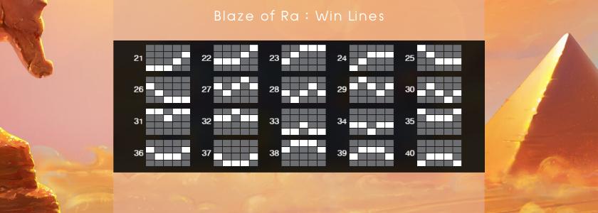 Blaze of Ra - winlines